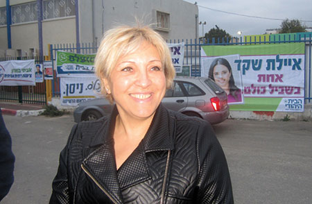 Anett Haskia fared poorly in the Jewish Home primary, but she says party voters embraced her despite her background.  (Photo/Ben Sales)