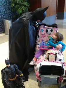 "Lenny ""Batman"" Robinson makes a visit to LifeBridge Sinai hospital."