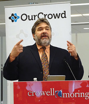 Jon Medved, CEO of OurCrowd, an Israeli company that finances startups, has announced his company is partnering with the Maryland/Israel  Development Center. (Photo by Suzanne Pollak)