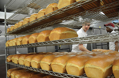 Bakeries must rid themselves of shelves upon shelves of bread before the start of Passover.