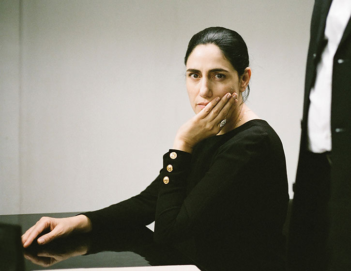 "Ronit Elkabetz stars in and co-directs ""Gett: The Trial of Viviane Amsalem,"" the true story of of a woman's five-year struggle to obtain a divorce in Israel's rabbinical courts. (Provided)"
