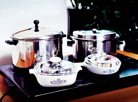 Electric hot plates are a mainstay in  observant Jewish homes during Shabbat and holidays when turning knobs and electrical switches are prohibited. (David Stuck)