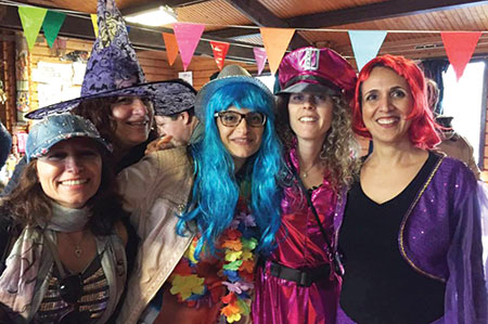 Israelis in the Netherlands celebrate Purim at an event organized by the Dutch Israeli scouts movement Hatsofim.  (Courtesy of Hatsofim)