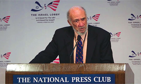 Richard Falk, professor emeritus at Princeton University, accuses the United Nations of being biased against the Palestinians. (National Press Club)