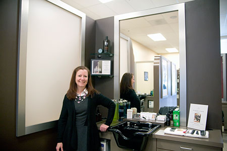 Dawn Koslowski is the owner of 18|8 Salon, which opened in Quarry Lake last month.  (Marc Shapiro)