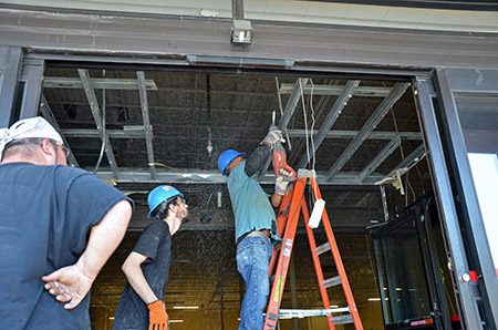 Contractors demolish the inside of the former Office Depot at 1628 Reisterstown Road to make way for the new Seasons kosher market.