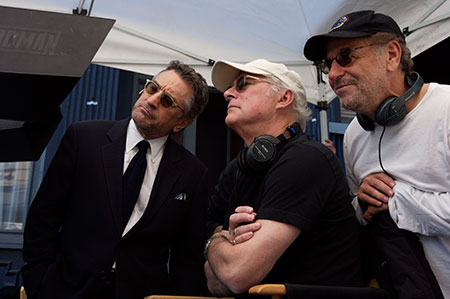 From left:Robert De Niro; director Barry Levinson and writer Art Linso (File photo)