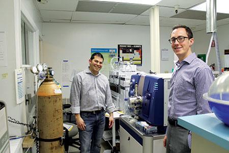 Seth Wong (left) and JJ Slatkin have high hopes for their new marijuana testing business.