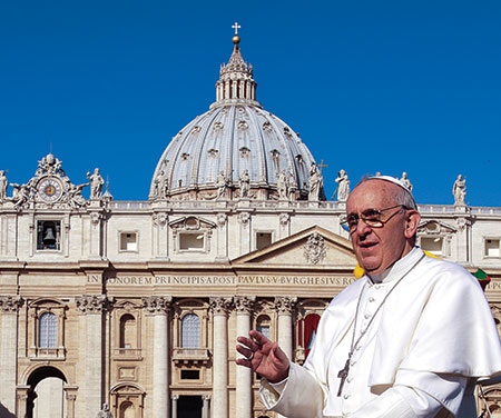 """Under Pope Francis, the Vatican announced an agreement with the """"State of Palestine."""" (Massimiliani Migliorato /CPP/POLARIS)"""