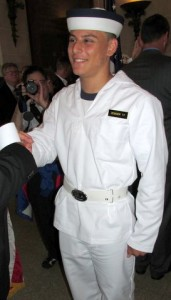 Justin Zemser pictured on June 27, 2013, at the United State Naval Academy, days after graduating from high school.