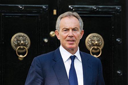 Tony Blair was the so-called Quartet's Middle East envoy. (FACUNDO ARRIZABALAGA/EPA/Newscom)
