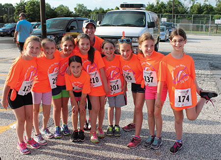 KSDS third- and fourth- grade girls participate in a program that uses running as a platform for exploring girls' issues within a Jewish context. (Provided)