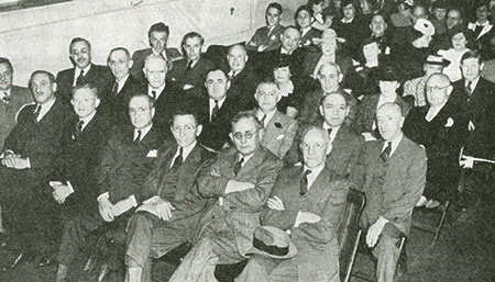 The founders of the Menorah Lodge celebrate its 25th anniversary in a photo published in the June 1940 issue of B'nai B'rith. (Provided)