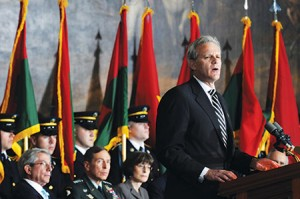 Michael Oren's op-eds haven't been kind to President Obama. (Astrid Riecken/Getty Images