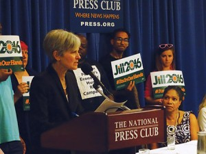 Dr. Jill Stein announces her 2016 Green Party presidential bid on June 23 at the National Press Club in Washington, D.C. (Josh Marks)