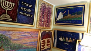 Pikesville artist Betty Grodnitzky's home is filled with her paintings, many of which depict Israel.