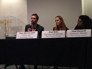 Panelists from the Israel Embassy answer questions at MIDC day in Washington, D.C. (Photos provided)