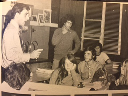 Jerry Sklar teaches a photo astronomy class at Pikesville High School in 1972.