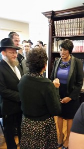 Baltimore Mayor Stephanie Rawlings-Blake meets with members of the  Jewish community in Northwest Baltimore on Aug. 9.
