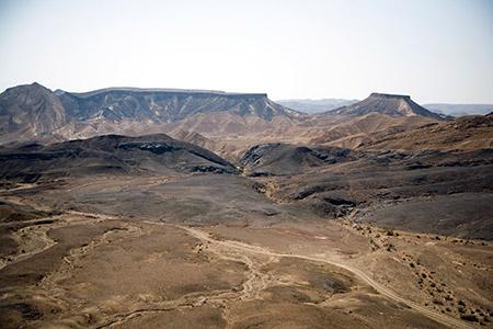 "The Mahktesh Ramon contains ""a quarter-billion years of history."" (Photos by Marc Shapiro)"