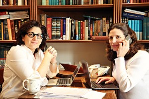 Naomi Brounstein (left) and Vivi Mann founded Ten Gav, a charitable  organization that relies on crowdfunding to assist those in need.