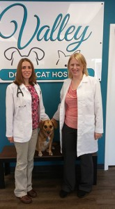 Dr. Shani Scherr (left) and Dr. Amanda Morgan have joined forces to open Valley Dog and Cat Hospital.