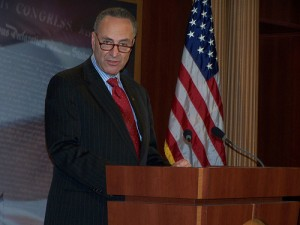 SEN. CHUCK SCHUMER (D-NY) ANNOUNCED HIS OPPOSITION TO THE IRAN NUCLEAR DEAL.