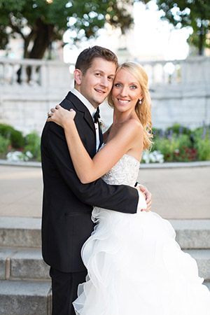 Lisa & Ross  Nochumowitz First Date:  April 1, 2013,  Hersh's Wedding Date:  July 11, 2015 Venue:  Peabody Library Residence:  Cross Keys Favorite Activity:  Trying new restaurants and  cooking together