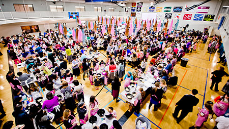 Last year's challah bake took place at theJCC of Owings Mills; this year's will be at the Maryland State Fairgrounds. (Photo by David Stuck)