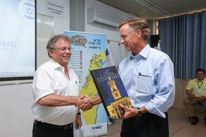 Gov. Bill Haslam (R-Tenn.), right, with Zvi Peleg, director general of Friends of Israel Sci-Tech Schools.