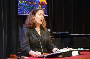 Temple Emanuel Rabbi/Cantor Rhoda Silverman rehearses for the High  Holidays at the Gordon Center.