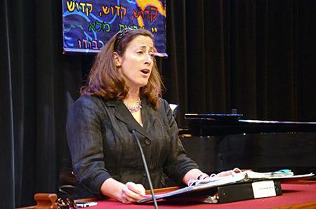 Temple Emanuel Rabbi/Cantor Rhoda Silverman rehearses for the High  Holidays at the Gordon Center.