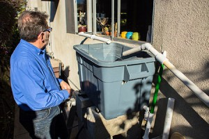 Andy Lipkis, founder of TreePeople, is building cisterns to collect rainwater in Los Angeles.