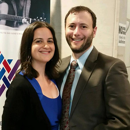 Jordan and Shulie Hersh are the first husband-wife team to lead services at Beth Sholom Congregation in Frederick. (Provided)