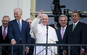 Pope Francis' visit to Capitol Hill brought much praise and generous applause. (Douglas Graham/CQ Roll Call/Newscom)