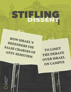 """Stifling Dissent,"" a report compiled by Jewish Voice for Peace, claims that  pro-Palestinian voices are being limited on college campuses."