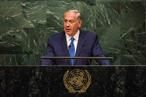 Israeli Prime Minister Benjamin Netanyahu lambasts the international community for its support of the Iran nuclear agreement. (Andrew Burton/Getty Images)