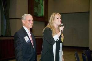 Judge Karen Chaya Friedman speaks at the judicial reception of the Simon E.  Sobeloff Jewish Law Society on Oct. 8.