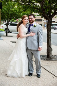 Sam & Adam Kruger  First Date: September 2008,  Home Grown Café  in Newark, Del.  Wedding Date:  June 14, 2015  Venue:  Sheraton Inner Harbor Hotel  Residence:  Federal Hill  Favorite Activity:  Curling up on the couch  and watching movies