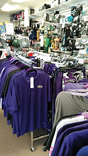 The Sports Nut recently relocated to Main Street in downtown Sykesville. It sells merchandise from all 32 NFLteams. (Daniel Schere)