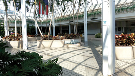 The interior doors of the Owings Mills Mall closed in late September. Mall owner Kimco plans to raze the mall and build an open-air outdoor shopping center. (Daniel Schere)