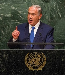 """Israeli Prime Minister Benjamin Netanyahu was criticized for telling the World Zionist Congress that a Palestinian leader convinced Hitler to exterminate the Jews, but """"on one side of the room it was well received,"""" said Rabbi Jack Luxemburg. (Andrew Burton/Getty Images)"""