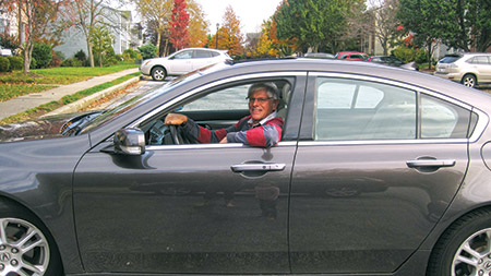 Neal Cierler volunteers as a driver for the JCS's Mitzvah Mobility program. Cierle retired two yars ago from the Social Security Administration. (Photo provided)