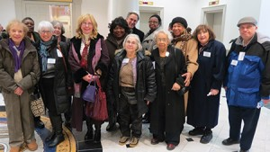 Members of CHAI's Northwest Neighbors Connecting gather to testify in Annapolis on behalf of the Maryland Department of Aging.