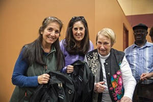 From left: Volunteers Margery Braver and Leslie  Monfred with Weekend Backpacks founder Sandie Nagel, at Chimes, where employees and volunteers pack bags of food for needy Baltimore City students  to take home for the weekend.