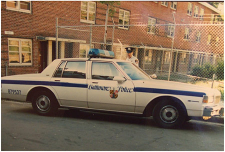 Cantor Michael Shochet worked for the Baltimore Police Department in the late 1980s. Witnessing his partner getting shot proved to be a pivotal moment in his life. (Photo courtesy of Cantor Michael Shochet)