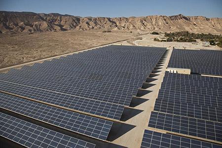 Arava Power Company's  4.9-megawatt field sits outside Kibbutz Ketura in Israel.