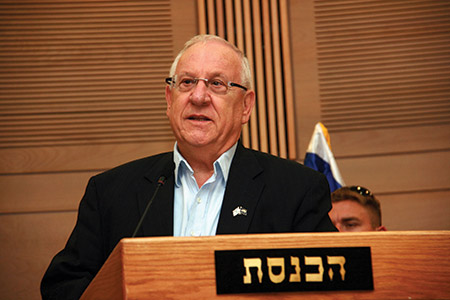 """Israeli President Reuven Rivlin: """"Cultivating channels of communication … improves our situation."""" (Itzike via Wikimedia Commons.)"""