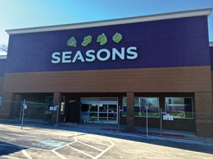 New York-based kosher supermarket chain Seasons is preparing to open a new store in the former Office Depot space on Reisterstown Road, east of Naylors Lane. (Photo by Melissa Gerr)