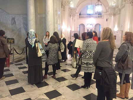 Women participate in advocacy training with BJC's Jewish-Muslim dialogue program. (Provided)